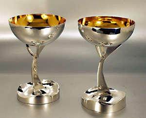 Sterling silver wine cups